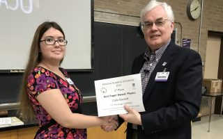 SAU Engineering Student takes first place for Best Paper in Physics